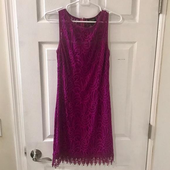 Laundry By Shelli Segal Dresses & Skirts - Laundry by Shelli Segal fuscia lace dress